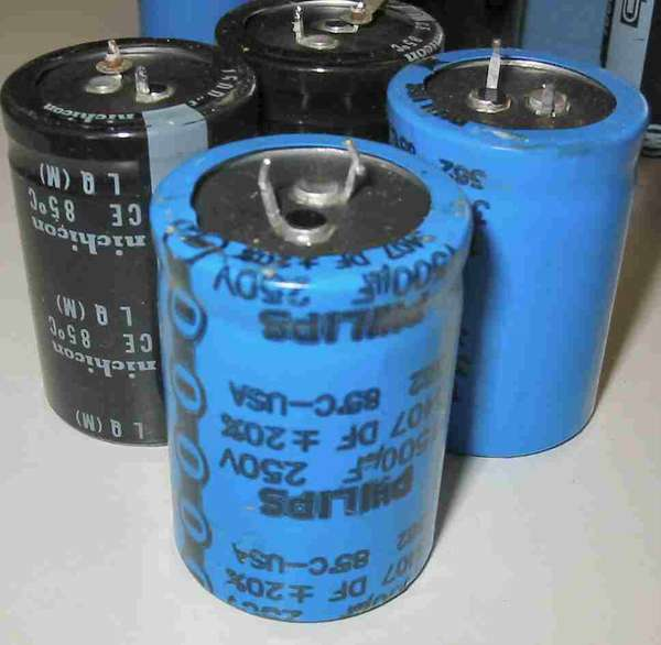 capacitor:1500uf250v85c philips or nichicon large switching power supply capacitor
