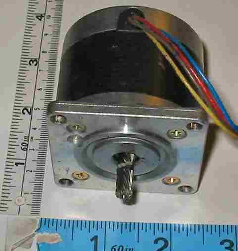 motor:23LQ-C302-G1V aka IBMPN1325059 Minebea / Astrosyn Astrosyn 1.8 deg stepper with helical shaft gear