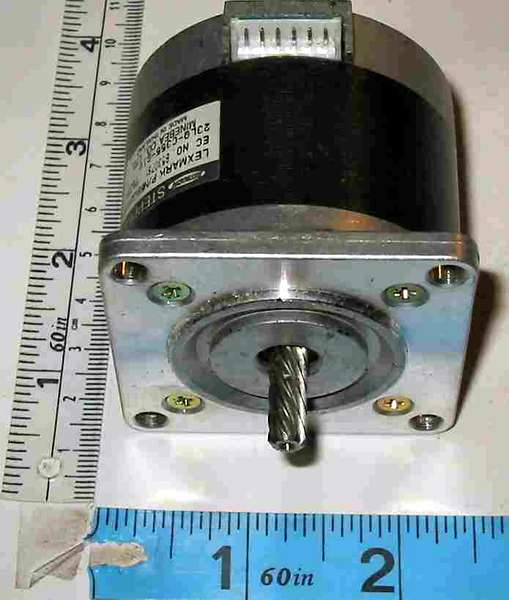 motor:23LQ-C355-G1V aka LEXMARK69G8930 Minebea / Astrosyn 1.8 deg stepper motor with helical gear shaft