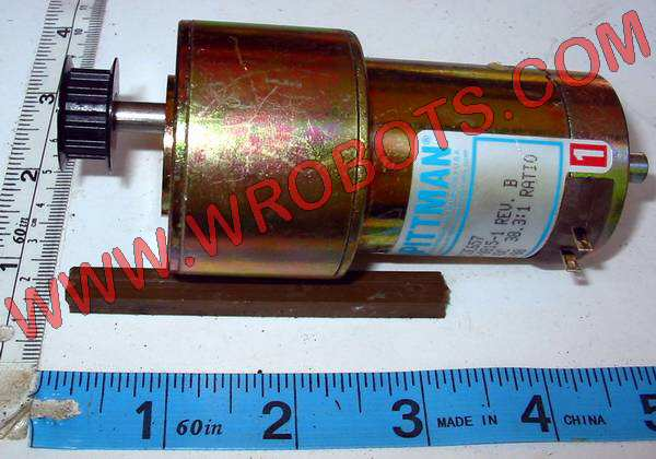 motor:3140-0815-1 Pittman 38.3:1 motor with Synchro belt pulley