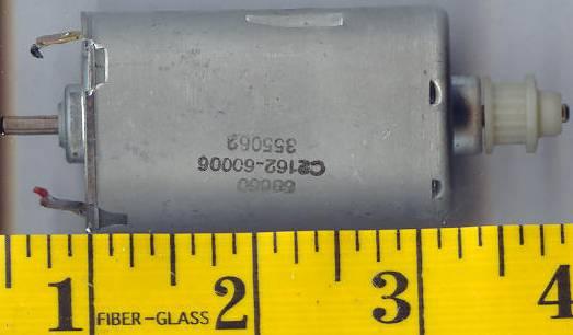 motor:C2162-6006 HP / Mabuchi Small DC motor with cog