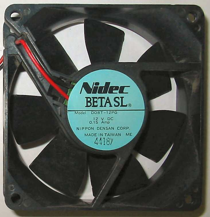 ventilation:DO8T-12PG Nidec Beta SL 80mm fan
