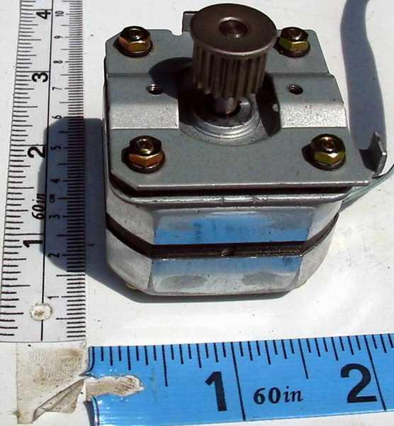 Em-257 motor bipolar stepper generic stepper with timing belt pulley.