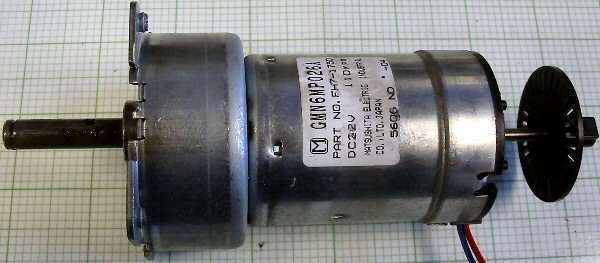 motor:GMN6MP026A Matsushita Geared dual shaft servo motor