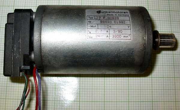 127 motor dc optical encoder unkermotoren for Dc servo motor with encoder